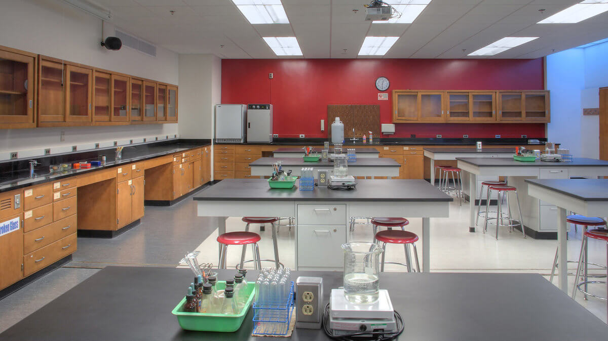 school cleaning service science lab